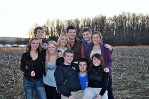 The ten cousins! We all grew up within half a mile of each other on the family farm. Fourth generation on the farm. Best family ever!