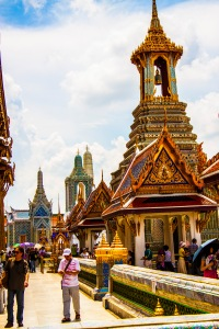 The GORGEOUS grounds to the Royal Palace. A must see in Bangkok.