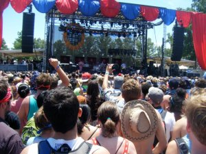 Bonnaroo 2012. Best music I have seen in my life. I believe this photo is from the Kooks performance (I'm in the hat).