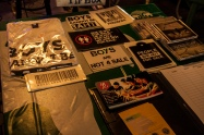 My merch table at the Colour Bar.