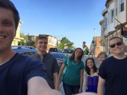 Triple date in Baltimore! Awesome to live so close to my brother, Rob, and sister, Blakely.