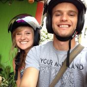 Cara and I taking one of our first rides together in Chiang Mai. So great to have her here this time around!