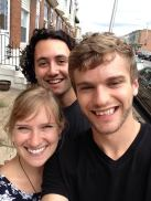 Chris, Cara, and I moments before saying goodbye to Baltimore.