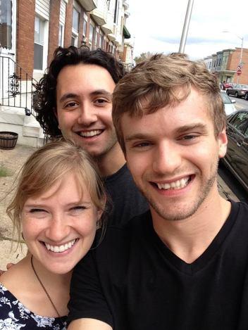 Chris, Cara, and I moments before saying goodbye to Baltimore.