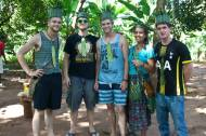 Sweet threads made by our guide during the spice tour. Darryl, Scott, Haeli (Darryl's girlfriend), and Noel, another Peace Corps volunteer.